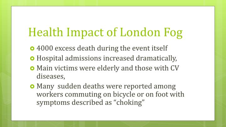 Health Impact of London Fog