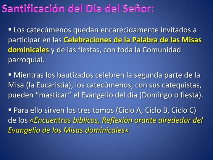 Santificación del Día del Señor: