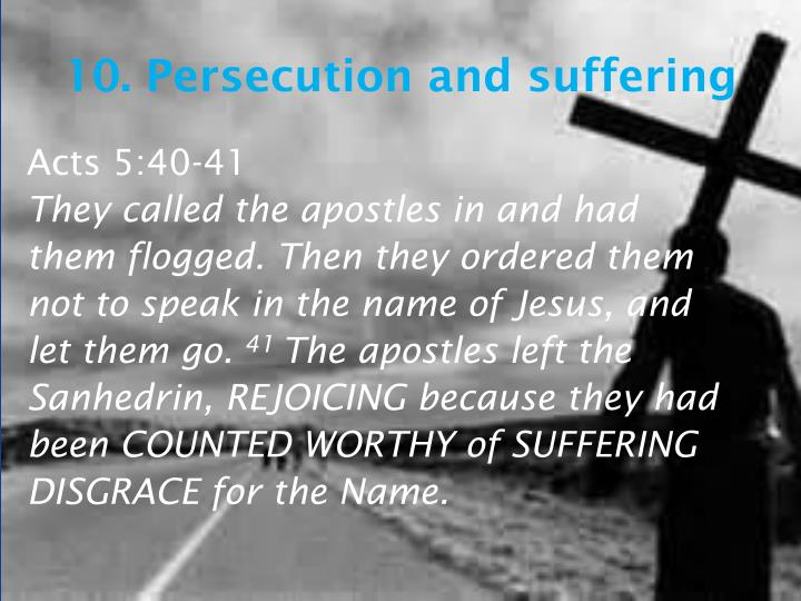 10. Persecution