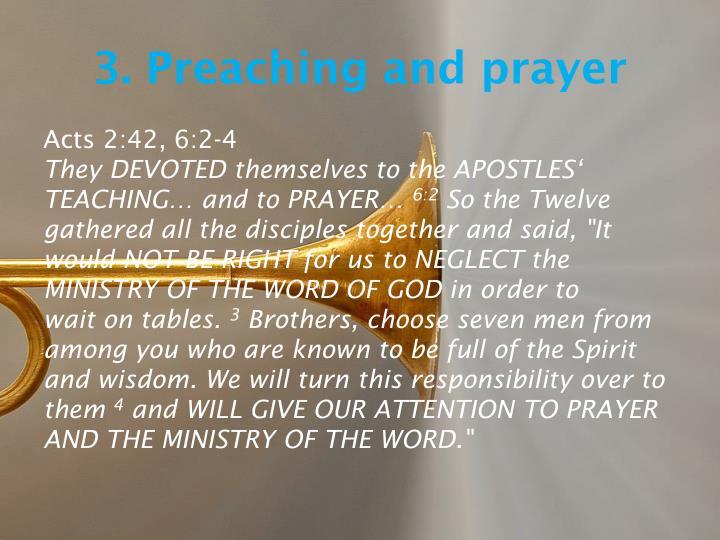 3. Preaching
