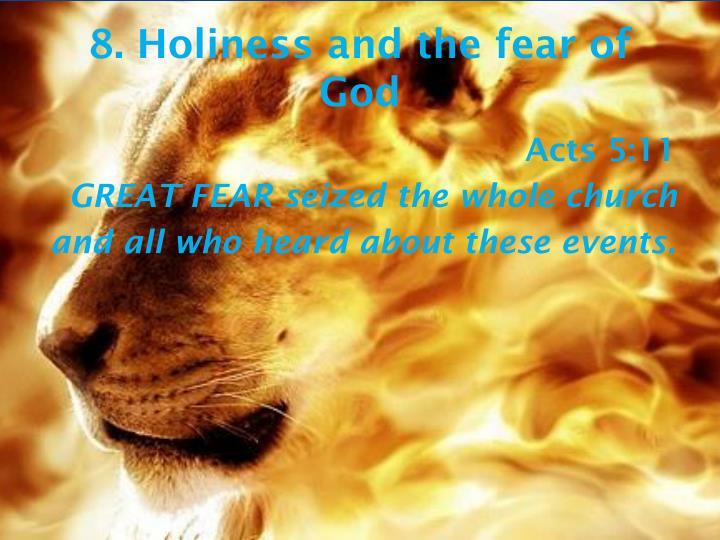 8. Holiness