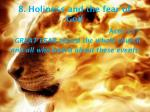 8 holiness and the fear of god