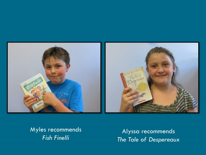 Myles recommends