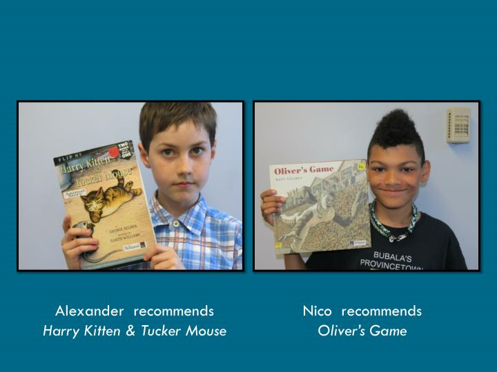 Alexander  recommends