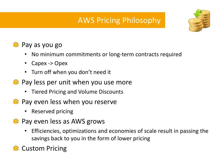 Aws pricing philosophy