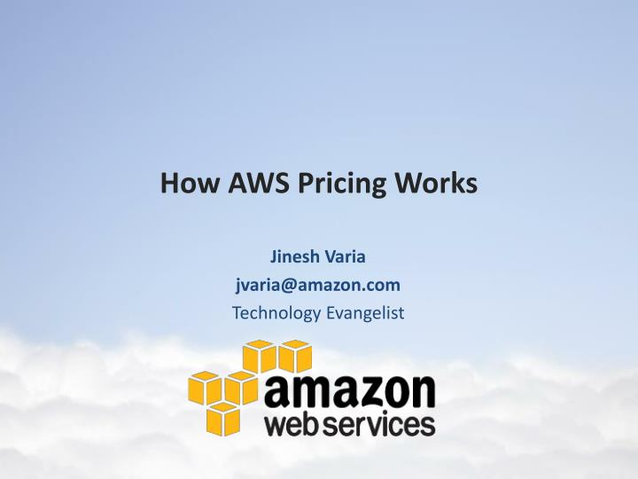 How aws pricing works