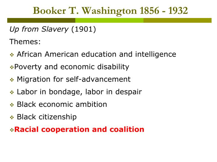 Booker t washington 1856 1932
