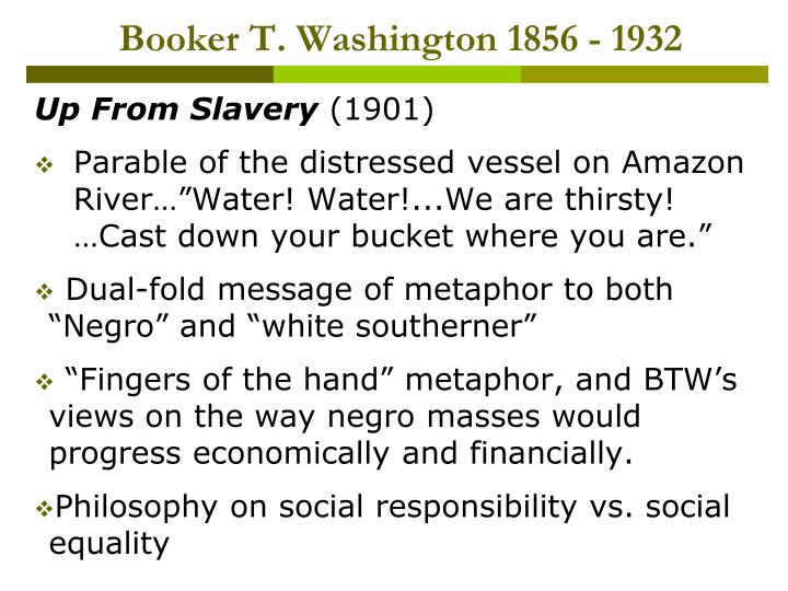 Booker T. Washington 1856 - 1932