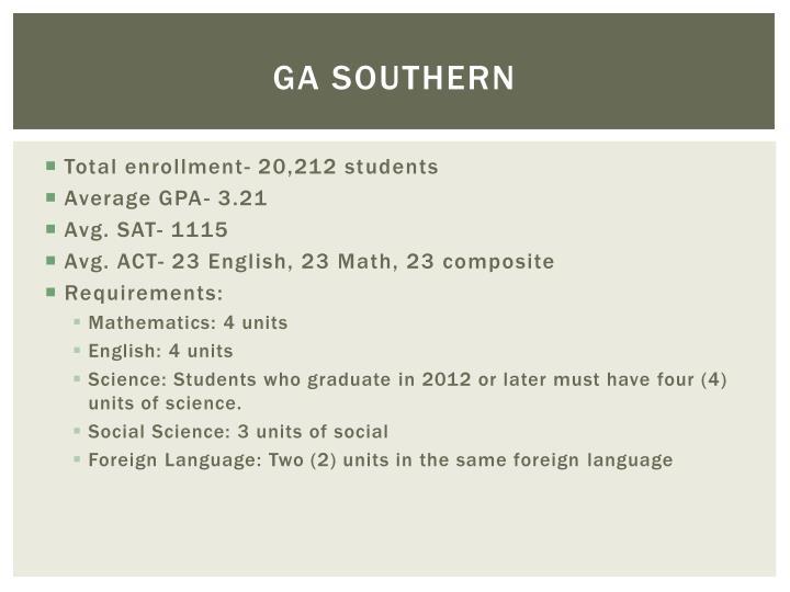 GA southern