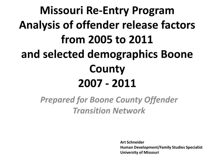 Missouri Re-Entry Program