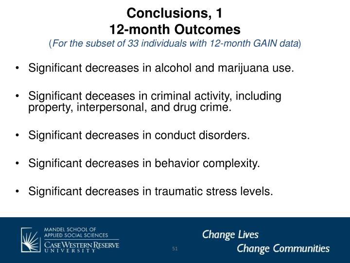 Conclusions, 1