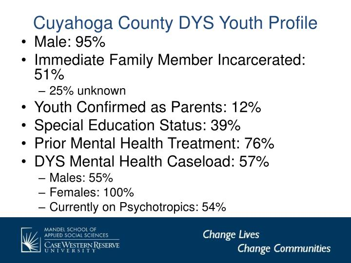 Cuyahoga County DYS Youth Profile