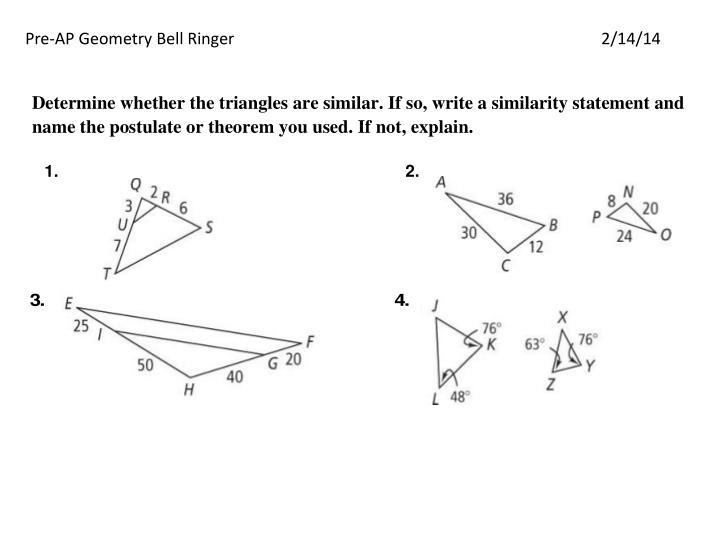 Pre-AP Geometry Bell Ringer2/14/14