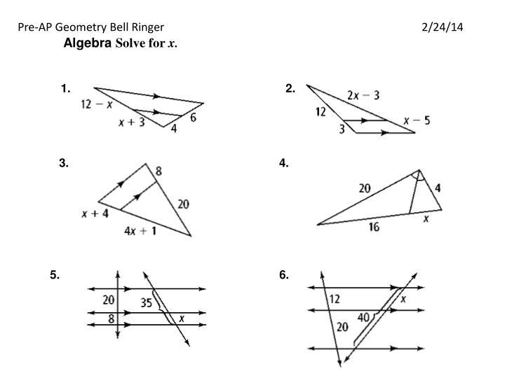 Pre-AP Geometry Bell Ringer2/24/14
