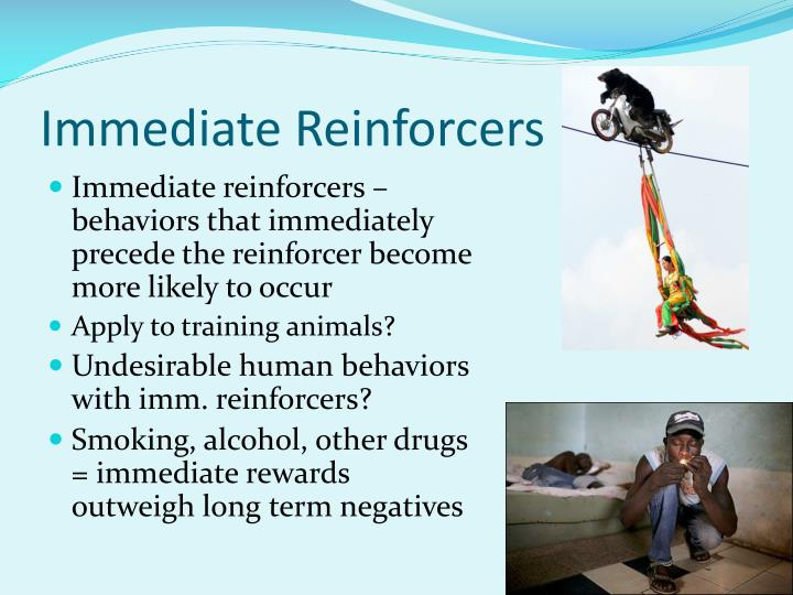 Immediate Reinforcers