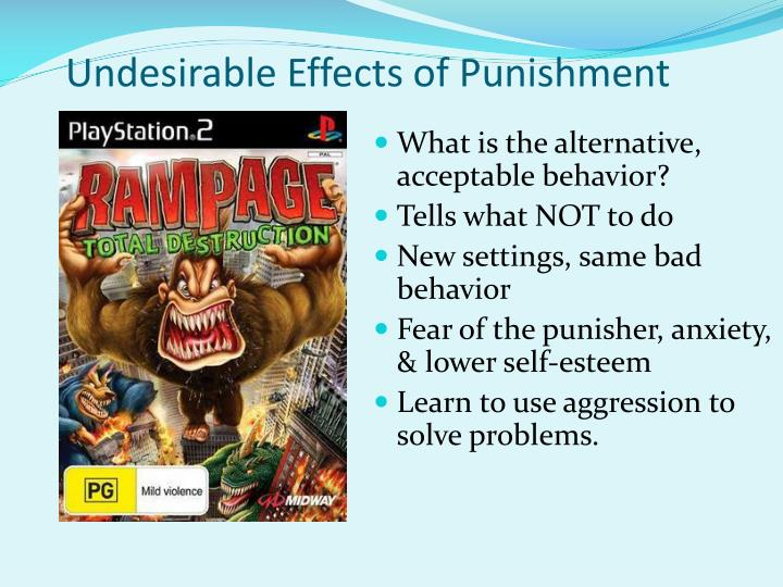 Undesirable Effects of Punishment