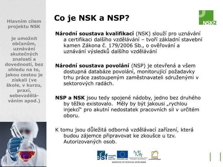 Co je NSK a NSP?