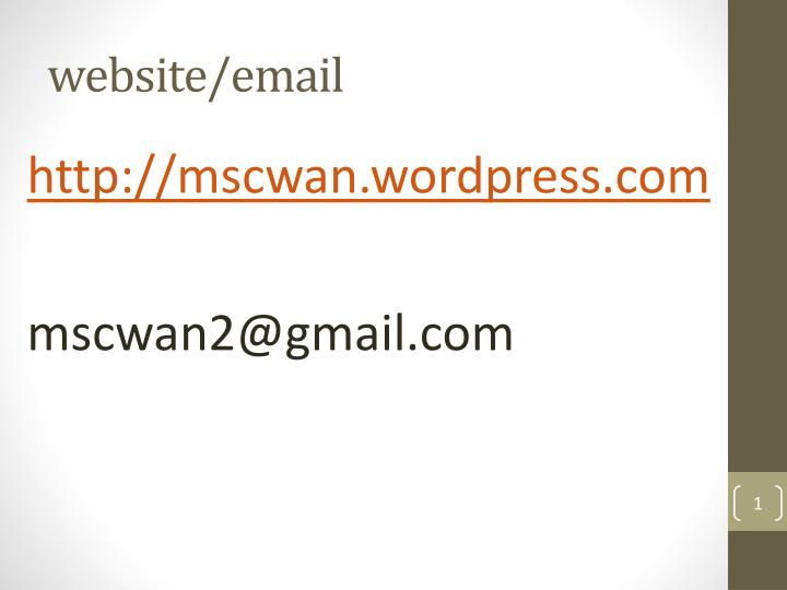 Website email