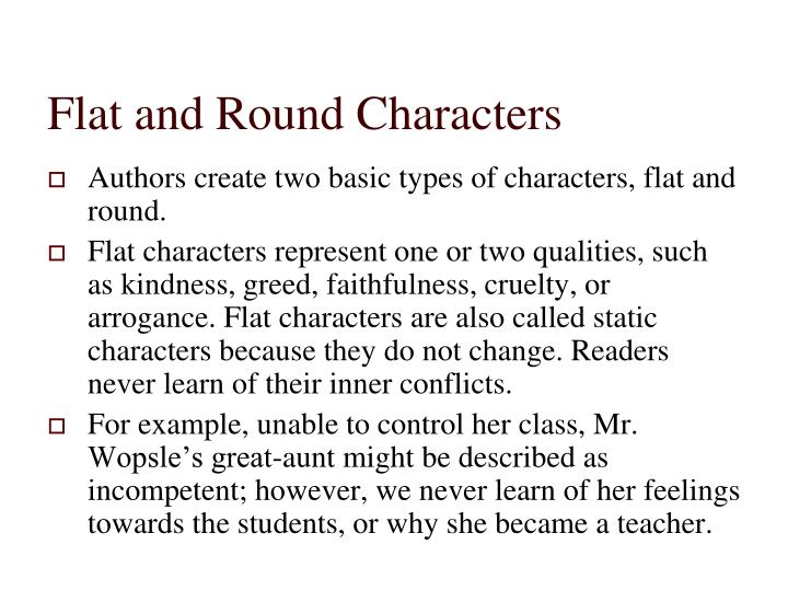 round and flat characters