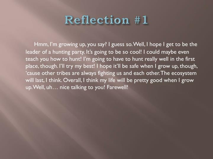 Reflection #1