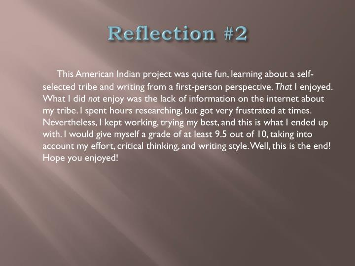 Reflection #2