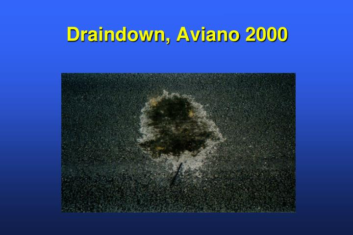 Draindown,