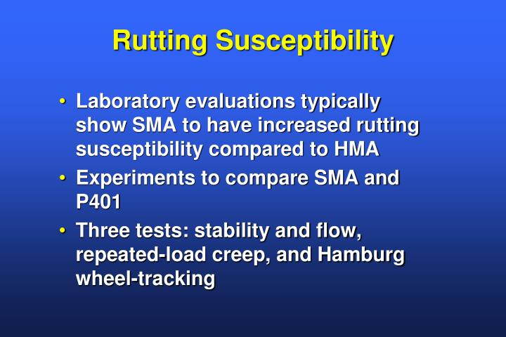 Rutting Susceptibility