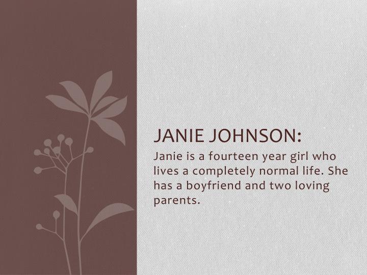 Janie Johnson: