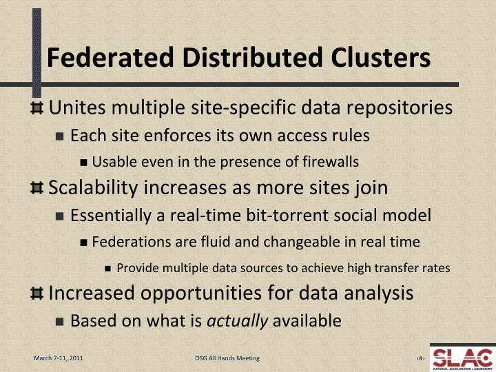 Federated Distributed Clusters