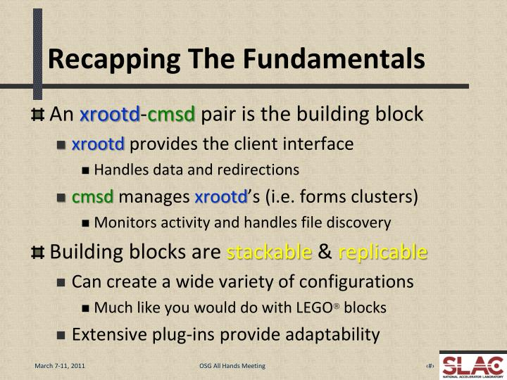 Recapping The Fundamentals