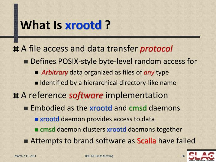 What is xrootd