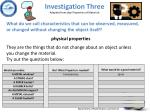 investigation three adapted from abpi properties of materials