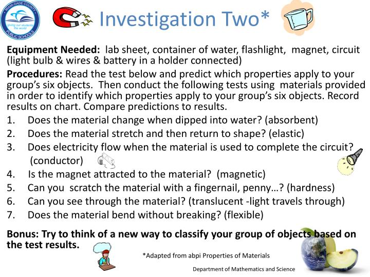 Investigation Two*