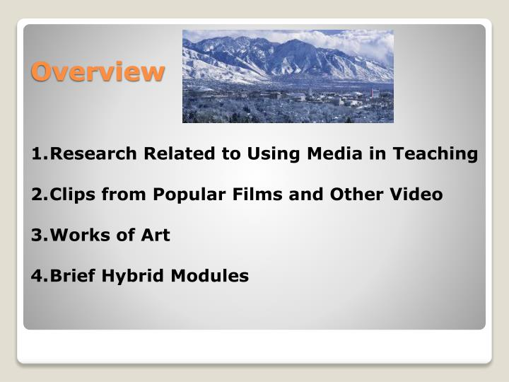 Research Related to Using Media in Teaching