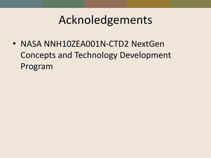 Acknoledgements