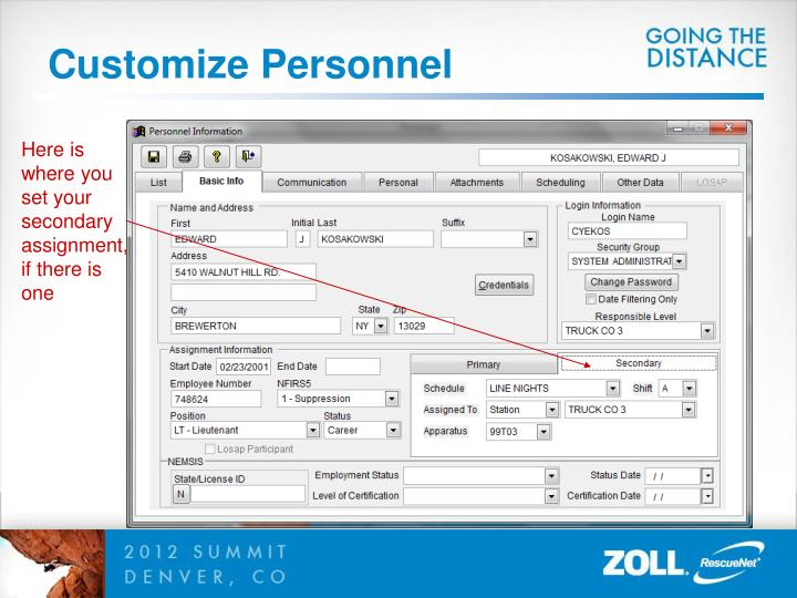 Customize Personnel