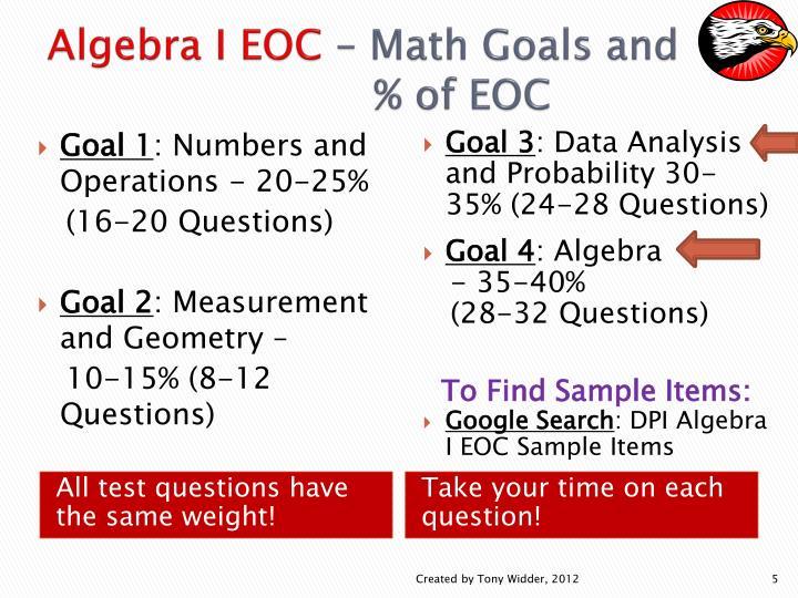 Algebra I EOC