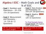 algebra i eoc math goals and of eoc