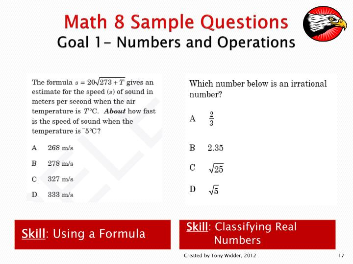 Math 8 Sample Questions