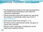blackbody radiation and quanta
