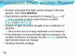 photoelectric effect solution photons