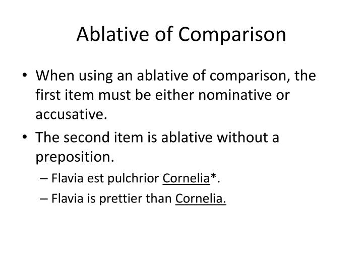 Ablative of Comparison