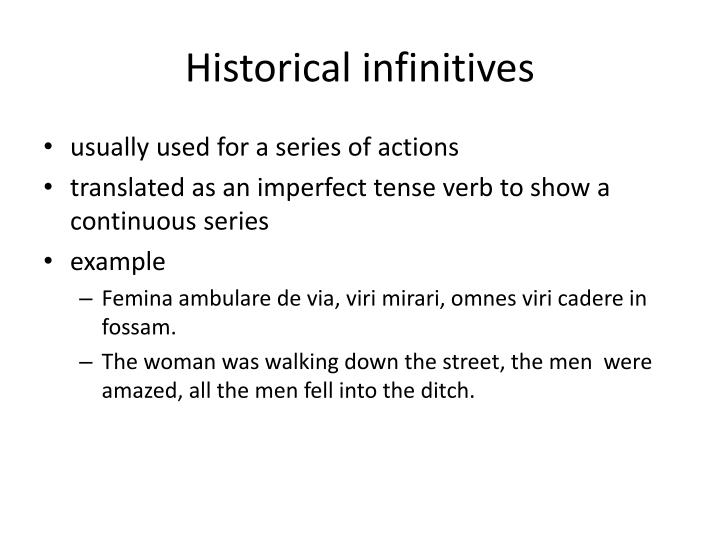 Historical infinitives