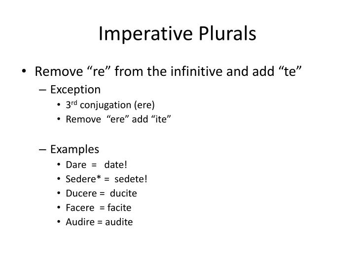 Imperative Plurals