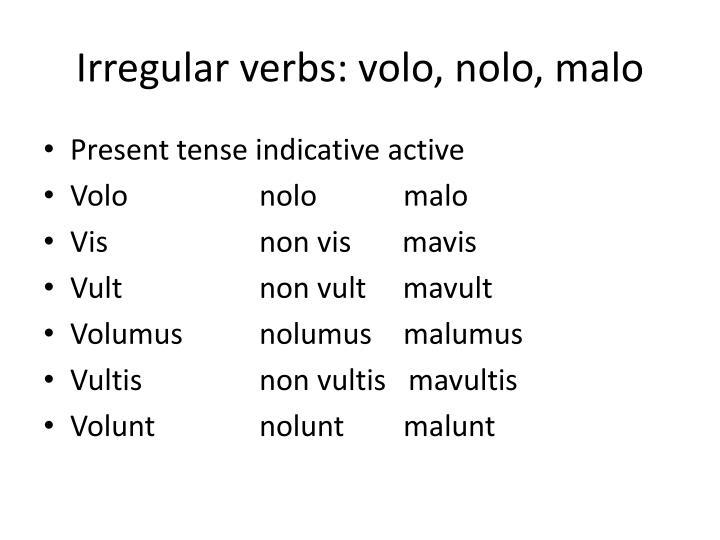 Irregular verbs: