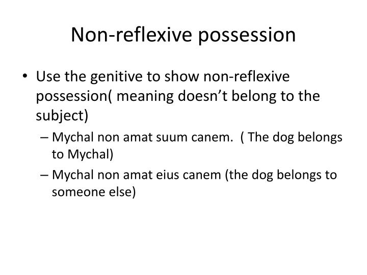 Non-reflexive possession