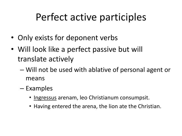 Perfect active participles