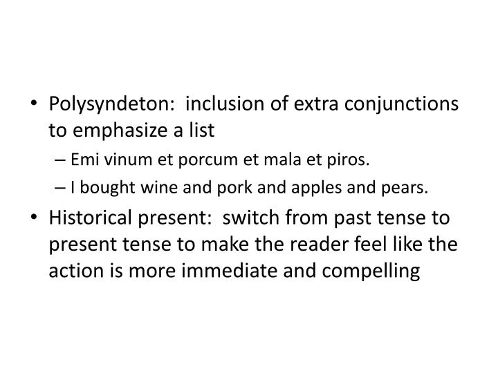 Polysyndeton