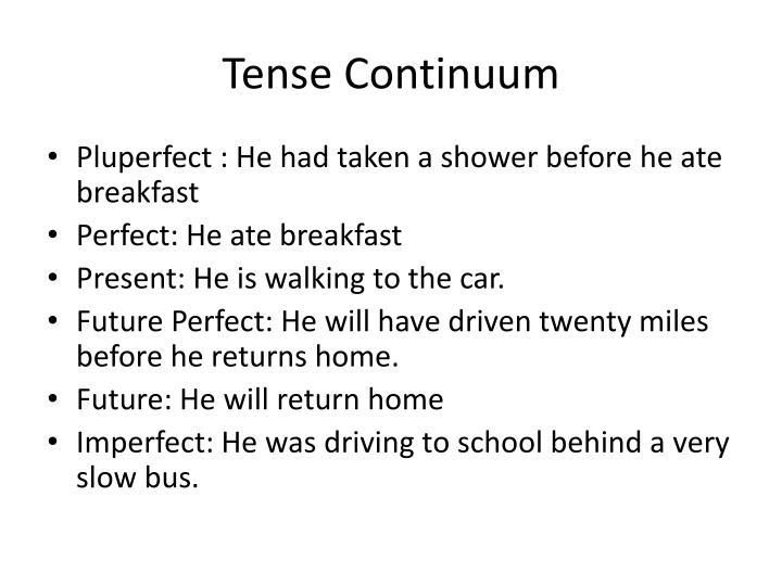 Tense Continuum