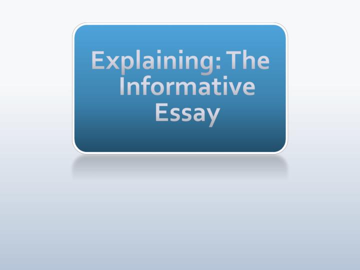 informative essay writing ppt